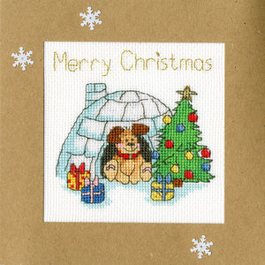 Winter Woof Christmas Card Cross Stitch Kit