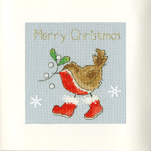 Step into Christmas - Christmas Card Cross Stitch Kit