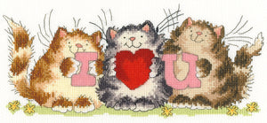 I Heart U Cross Stitch Kit
