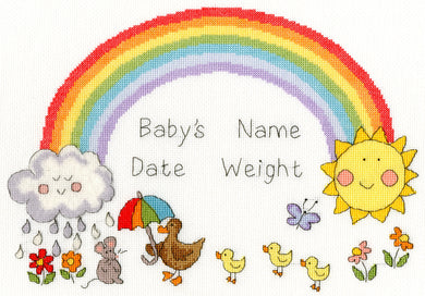 Rainbow Baby Cross Stitch Kit