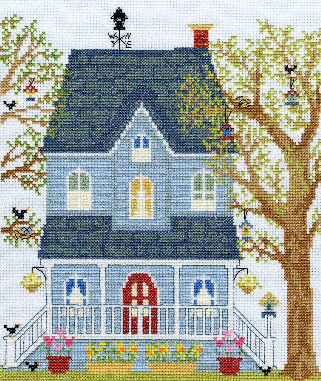 New England Homes Spring Cross Stitch Kit