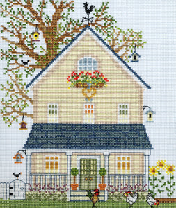 New England Homes Summer Cross Stitch Kit