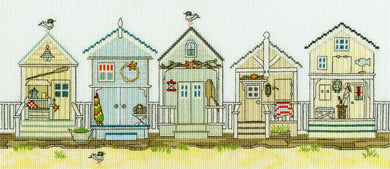 New England - Beach Huts Cross Stitch Kit