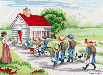 Little Red School House Cross Stitch Kit