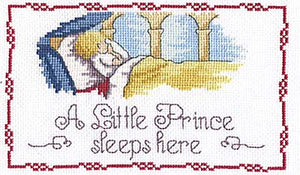 Little Prince Sleeps Here Cross Stitch Kit