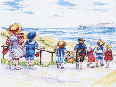 To The Beach We Go Cross Stitch Kit