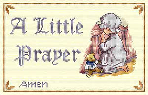 Little Prayer Cross Stitch Kit