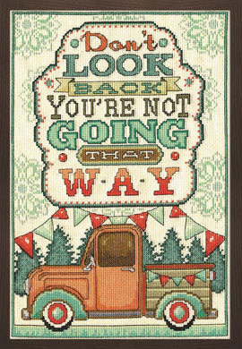 Don't Look Back Cross Stitch Kit