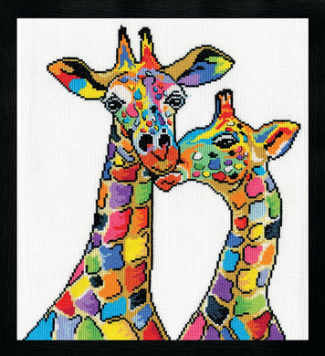 Colourful Giraffes Cross Stitch Kit