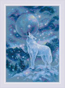Ice Cold Wind (Wolf) Cross Stitch Kit