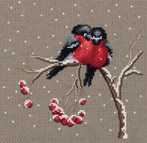 Winter Birds Cross Stitch Kit