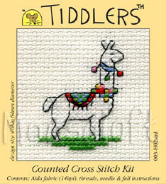 Llama Tiddlers Cross Stitch Kit