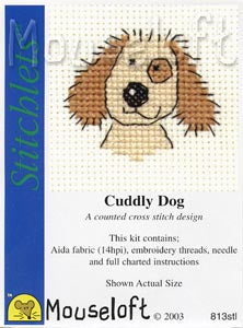 Cuddly Dog Cross Stitch Kit