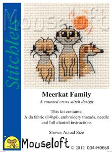 Meerkat Family Cross Stitch Kit