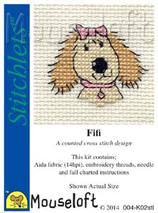 Fifi The Dog Cross Stitch Kit