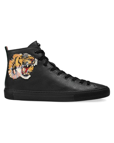 Gucci Leather high-top with appliqués