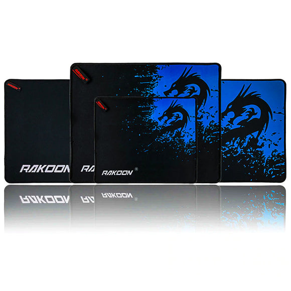 RAKOON Blue Dragon Gaming Mouse Pad - All sizes displayed