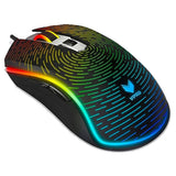 Rapoo V25S RGB Optical Gaming Mouse sky angle view