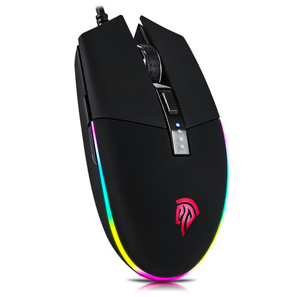 V50 Optical Gaming Mouse - Standing birds eye view