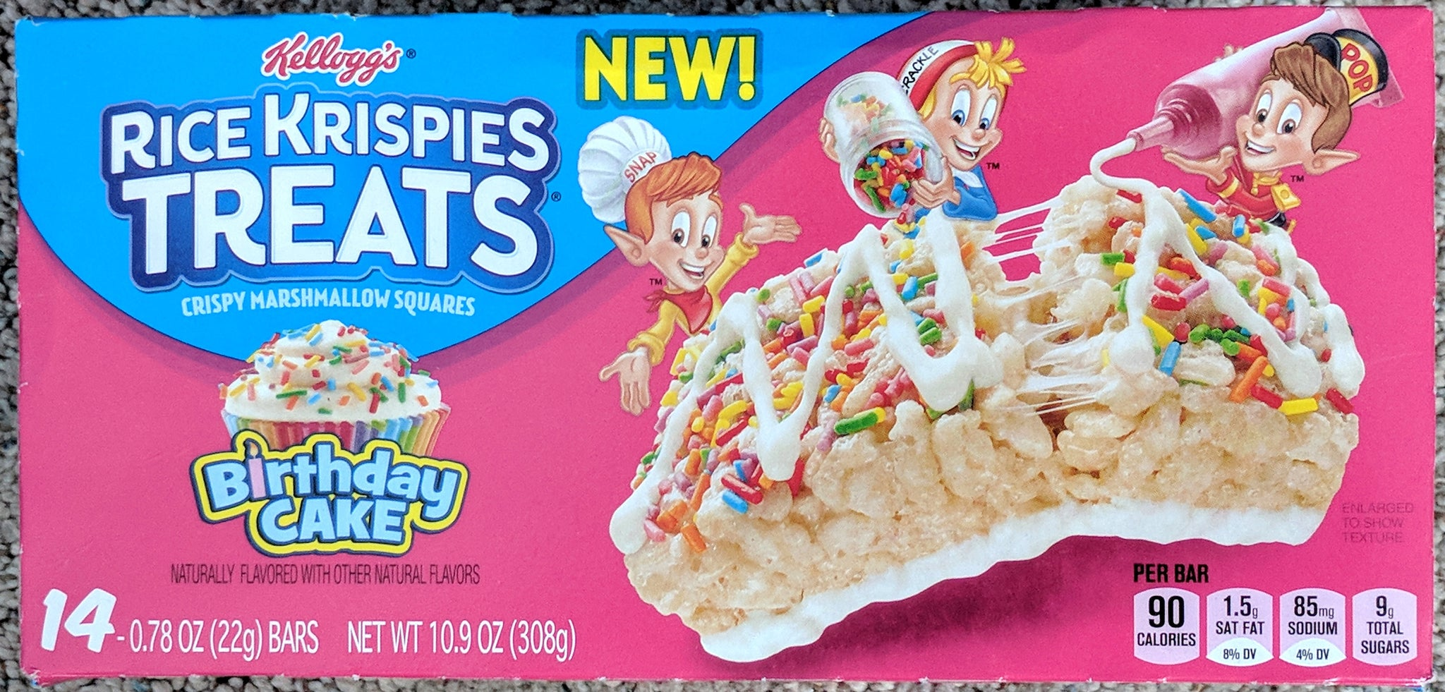 Birthday Cake Rice Krispy's 14pc
