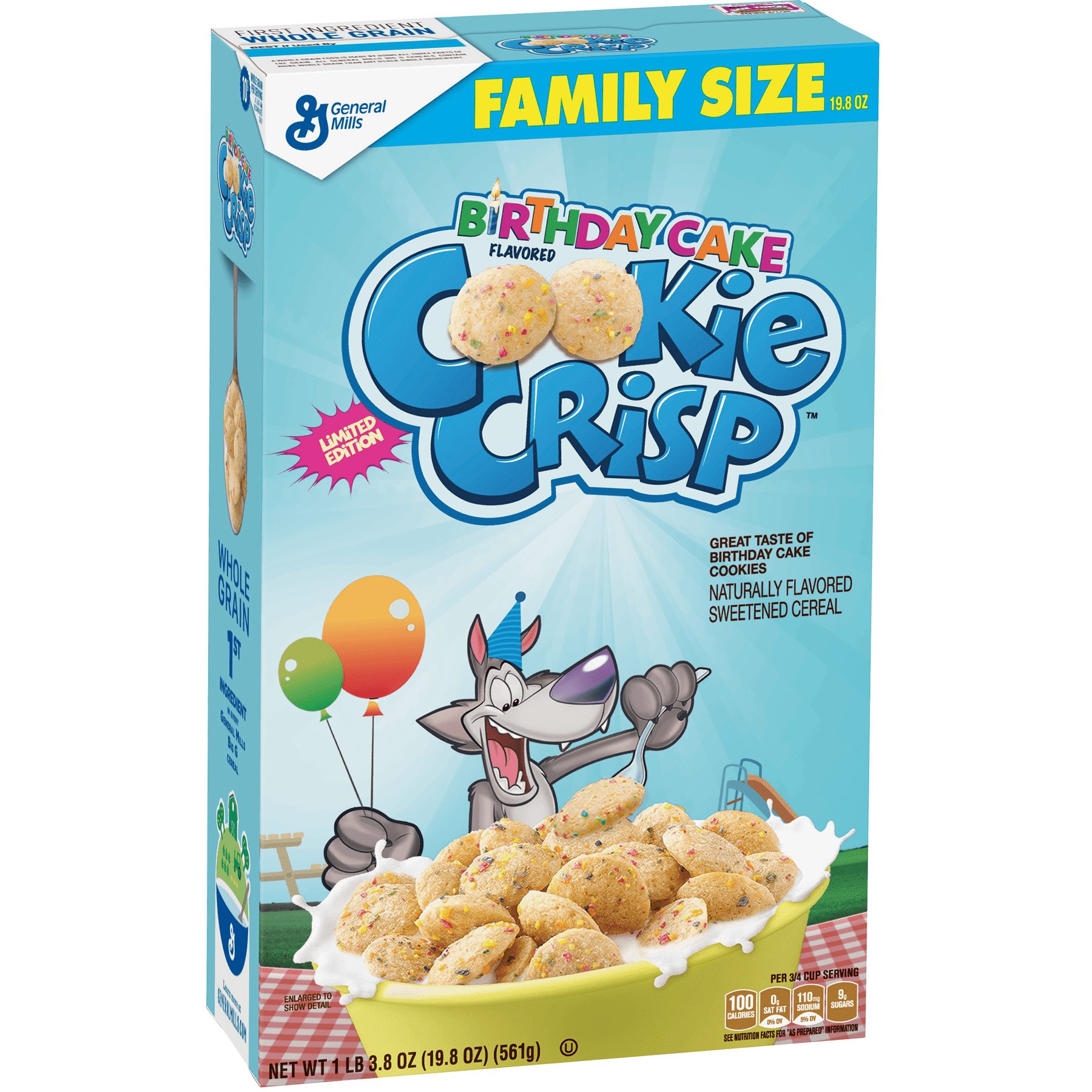 Birthday Cake Cookie Crisp box