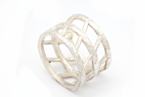 Silver Basket Ring