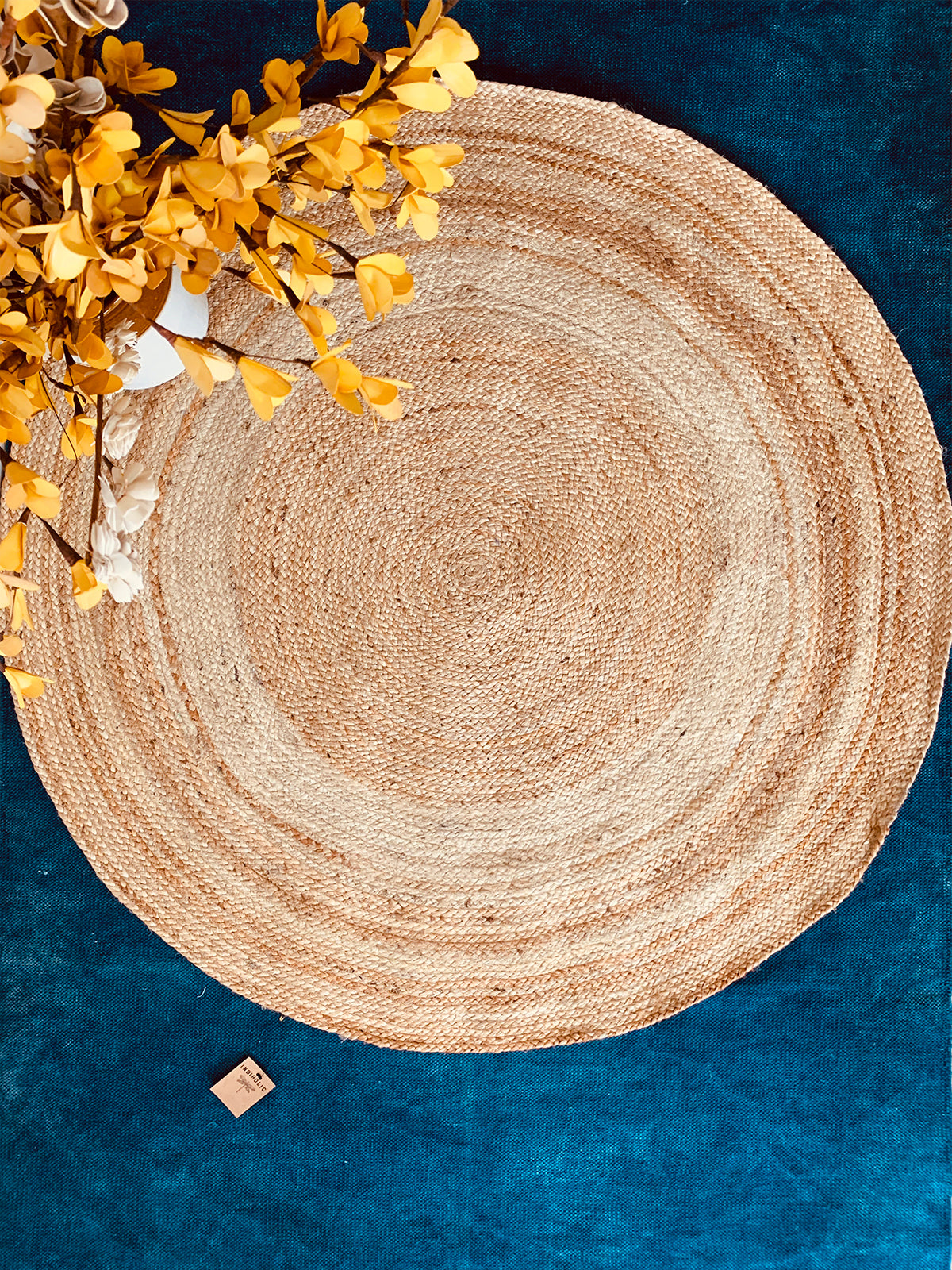 Jute Braided Round Rug 4 Feet Dia