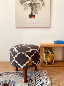 Wood Upholstered Stool