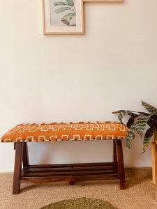 Wood Upholstered Bench