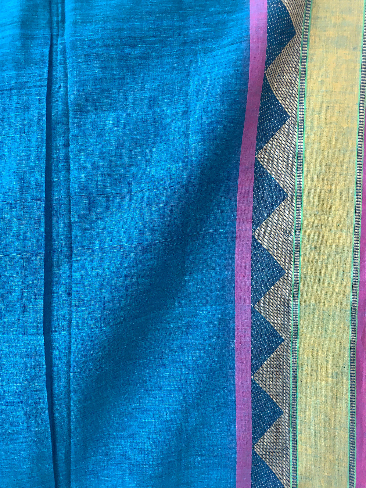 Blue Handwoven Khadi Cotton saree