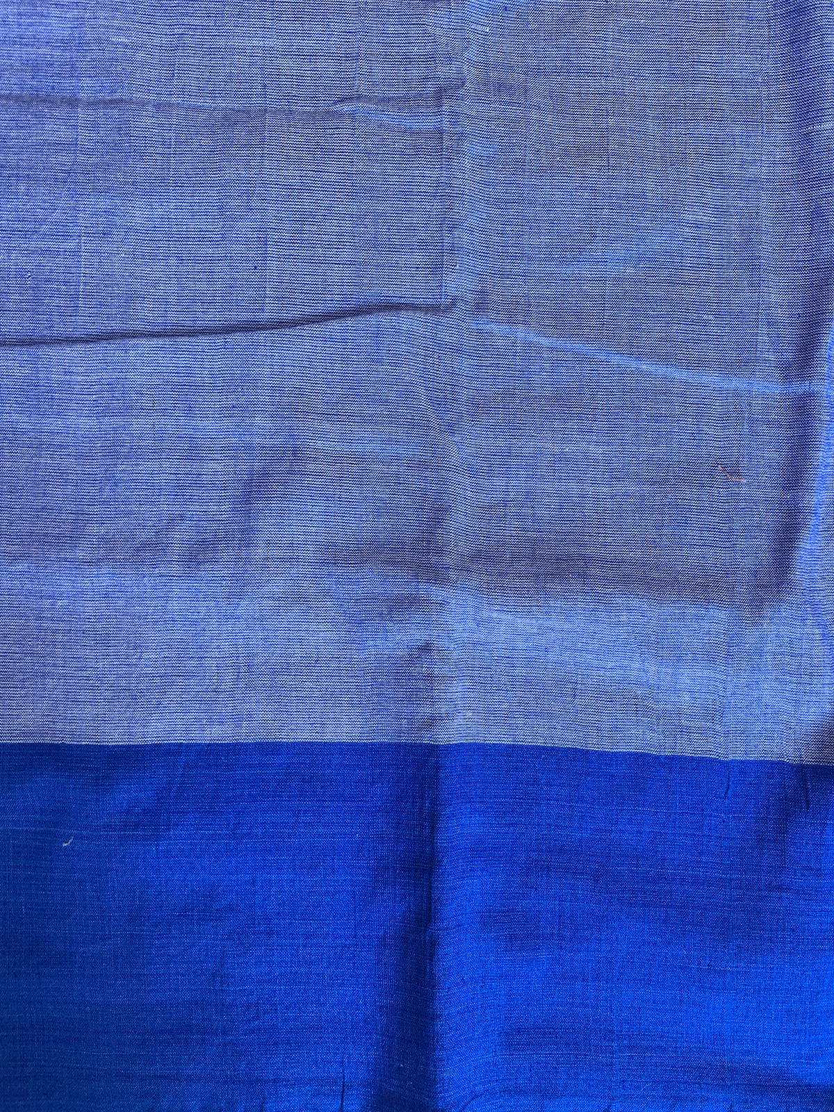 Handwoven Cotton white blue Ikat design saree
