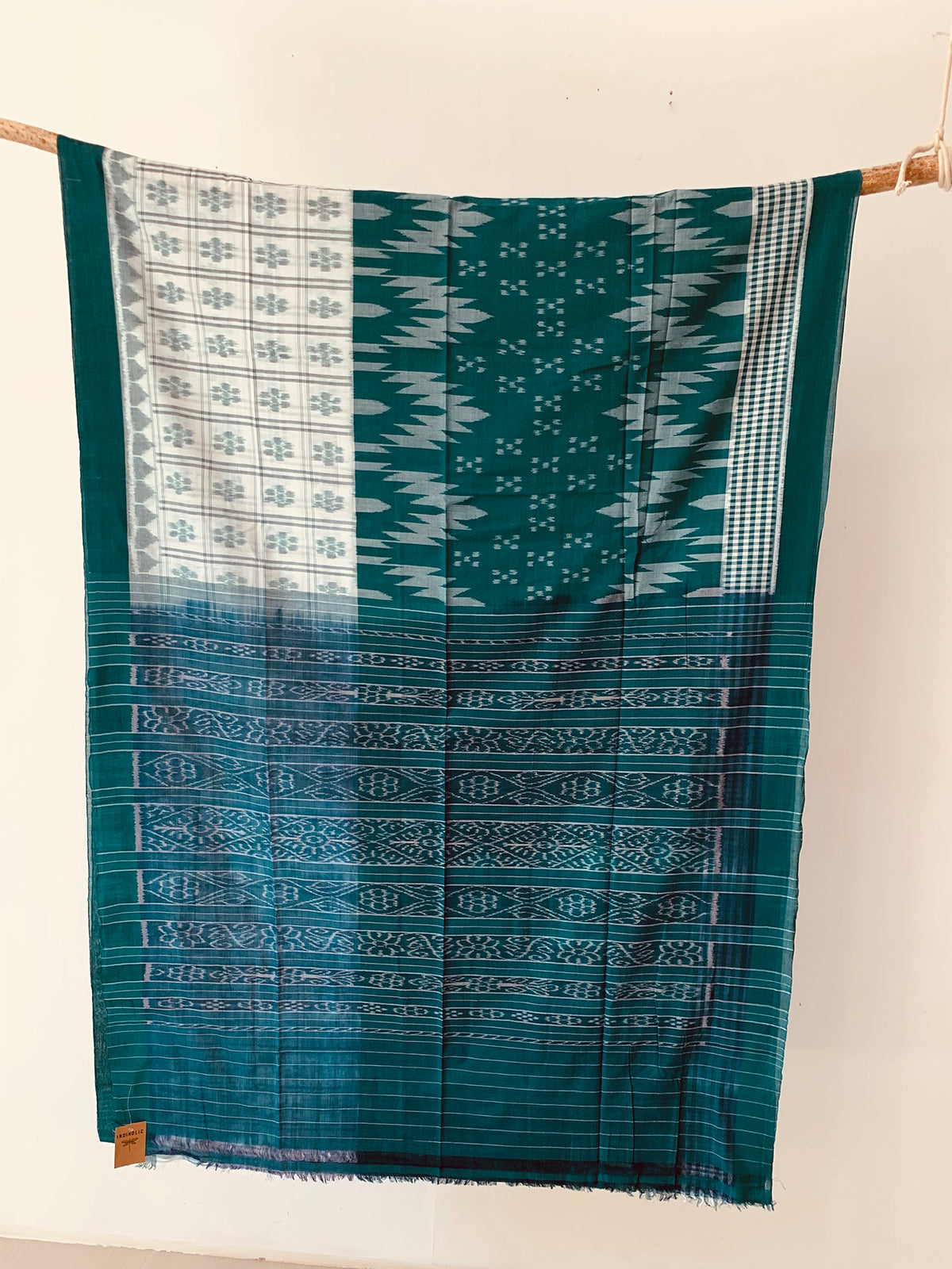 Handwoven Cotton Ikat Special Body design saree OH019