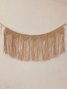 Macrame wall decor - banner