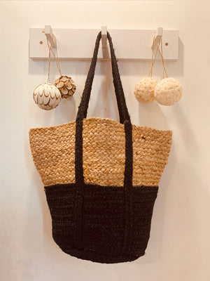 Jute Basket Large  Black Jute handle