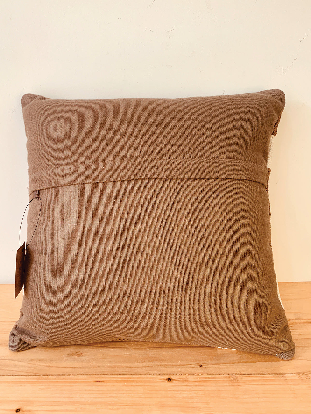 Brown Morrocan tile woven  cotton cushion cover  40*40