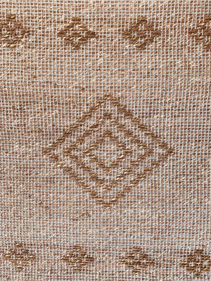 Hemp cotton diamond rug 2x4 ft/60*120 cm