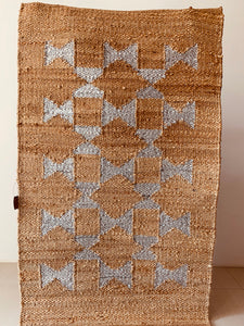Jute Rug with Silver Motif