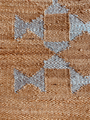 Jute with Silver Motif Rug 4x6 ft/120*180 cm