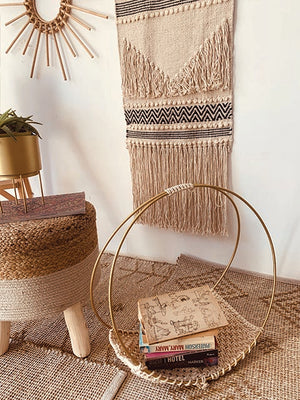 Gold colour Macrame Magazine Book Holder