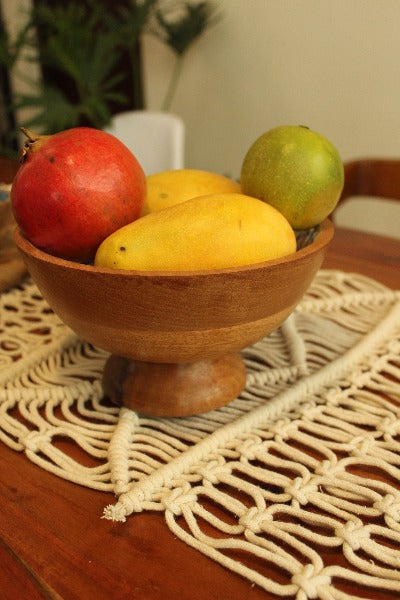 Enamel wooden Bowl stand serve ware