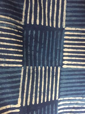 Indigo printed Fabric indigo check HPF007