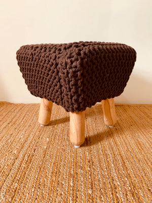 Hand knitted Stool