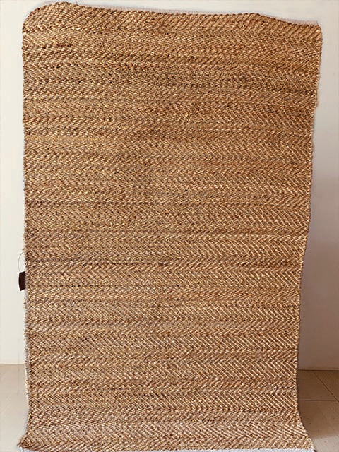 Herringbone Jute Rug with Gold