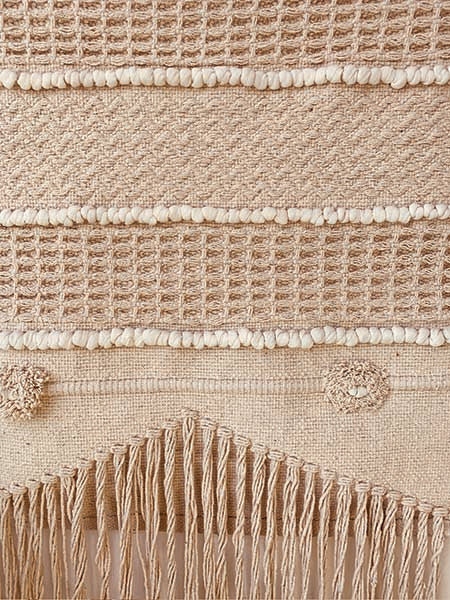 Textured neutral Wall rug decor - 60*115
