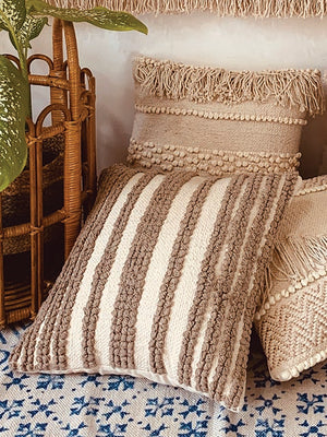 Textured loop & bobbles cushion cover  45*45