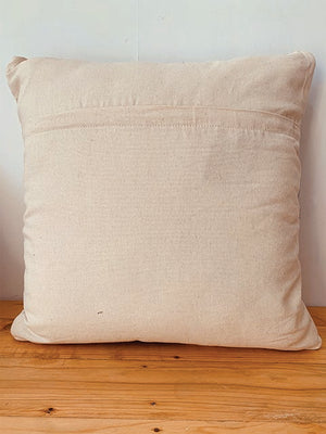 Textured neutral tasseled cushion cover  45*45