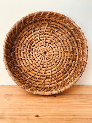Round Cane rattan tray Medium