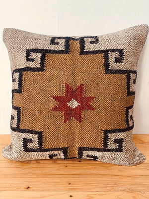 Ochre red Kilim cushion cover  50 * 50 cm