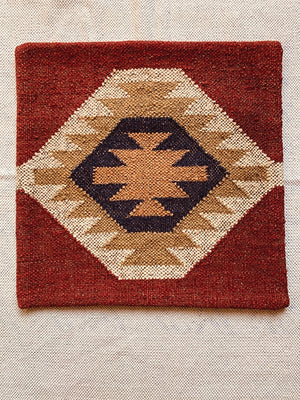 Red ecru Kilim cushion cover 50 * 50 cm