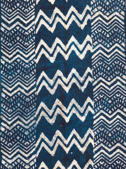 Chevron print indigo Cotton rug 4x6 ft/120*180 cm
